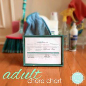 creating an adult chore chart