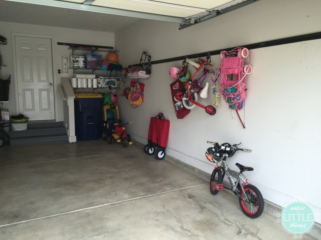 garage R side after