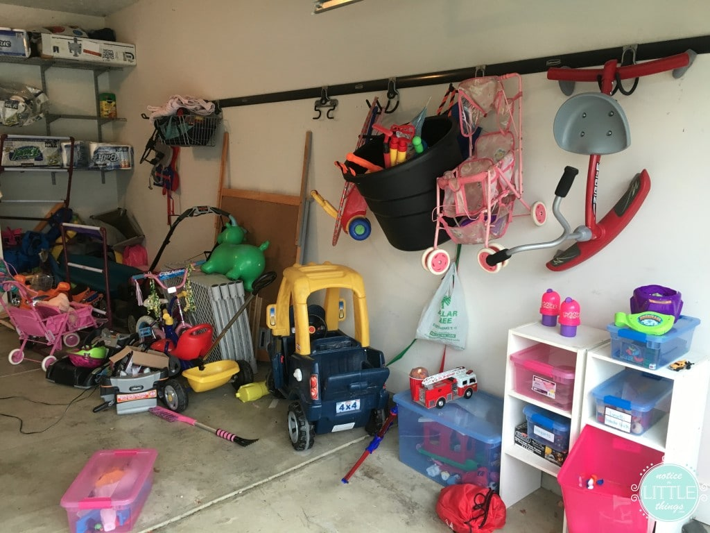 garage R side before