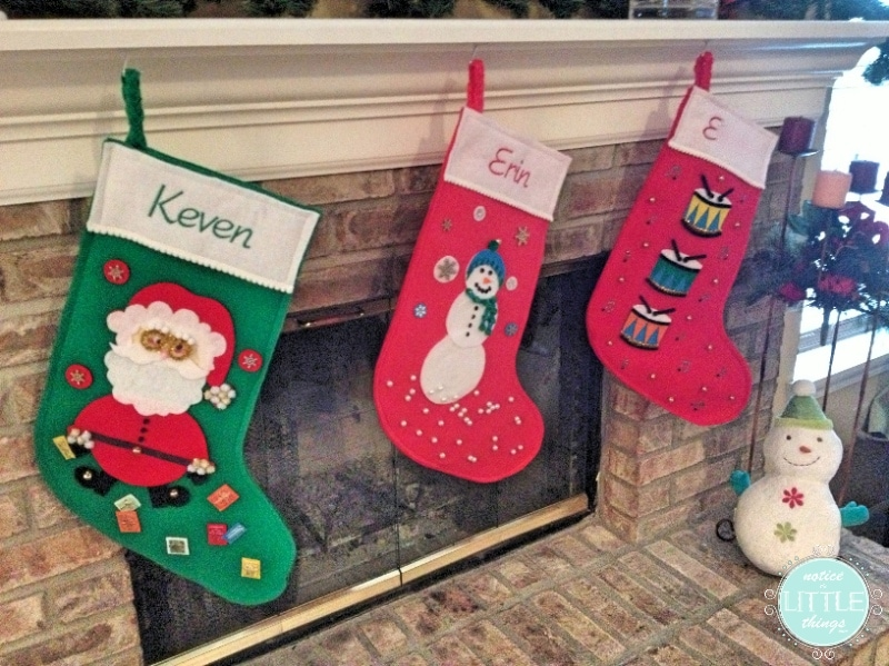 stockings mantel old