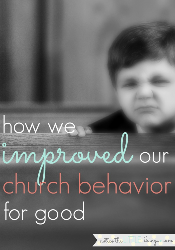 church behavior chart