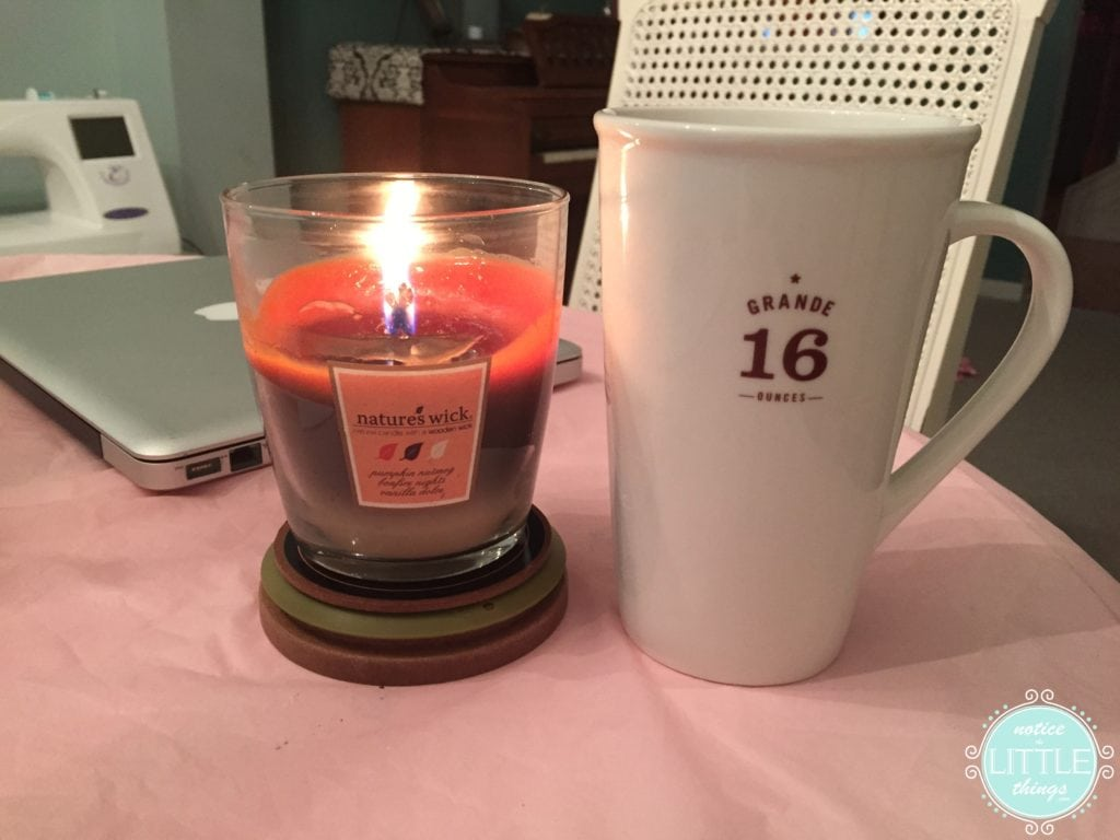 chai and candle