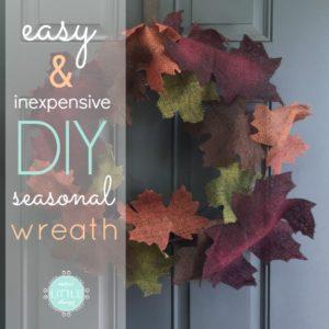 easy & inexpensive DIY seasonal wreath