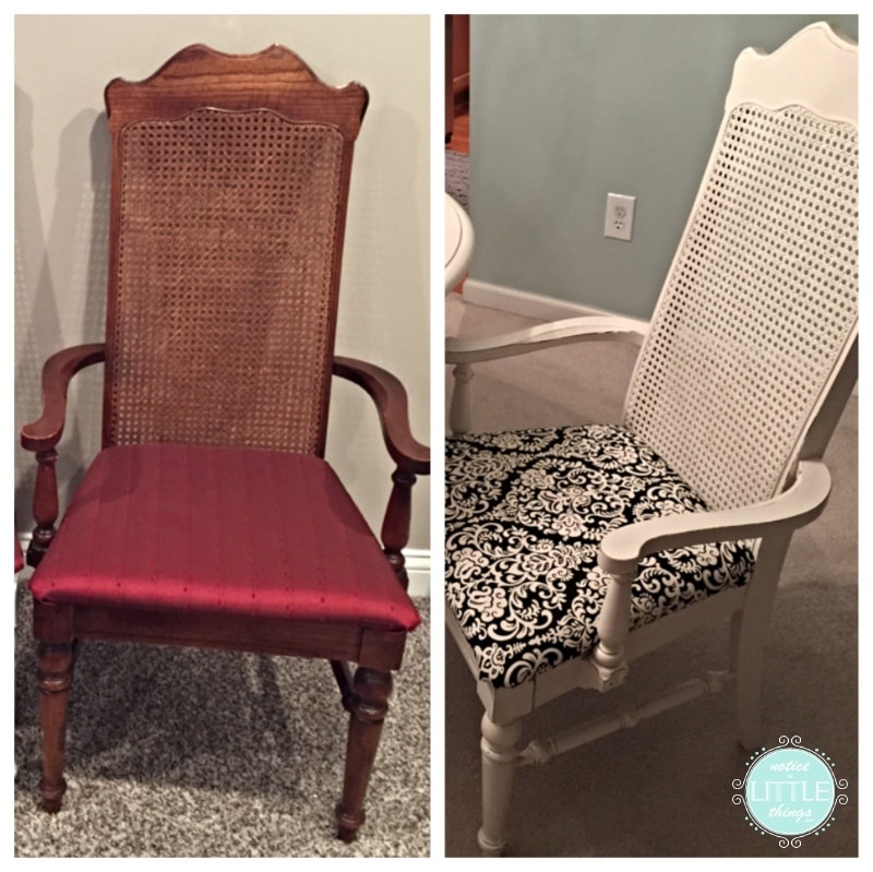 dining table chairs before and after