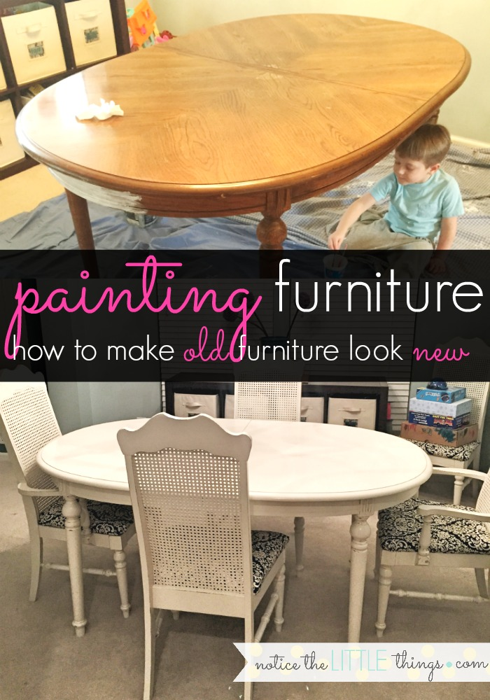 how to make old furniture look new