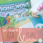 our favorite car & plane activities