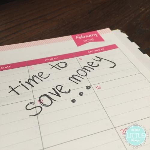 saving calendar