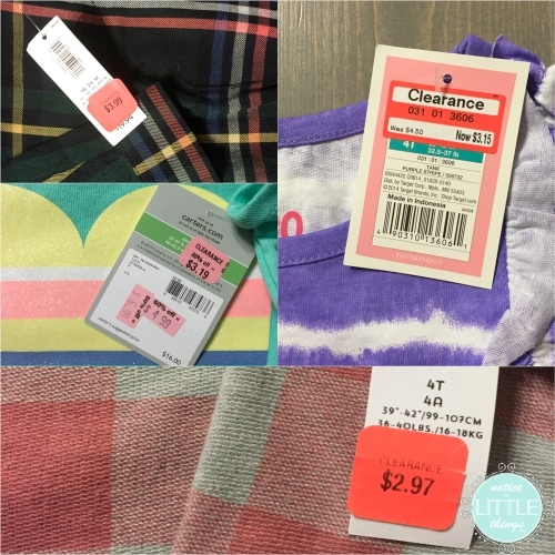 saving clearance tag collage