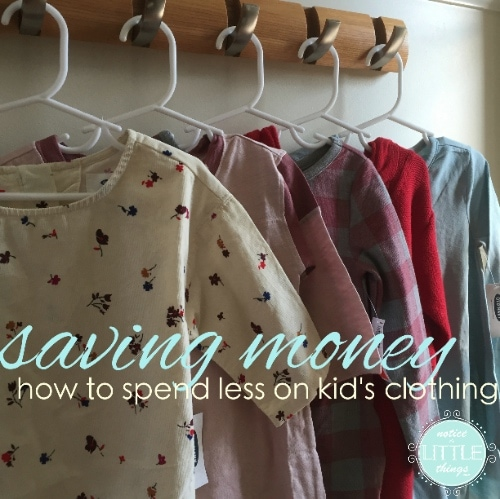 saving money on kids clothing