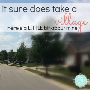 {on life} it sure does take a village