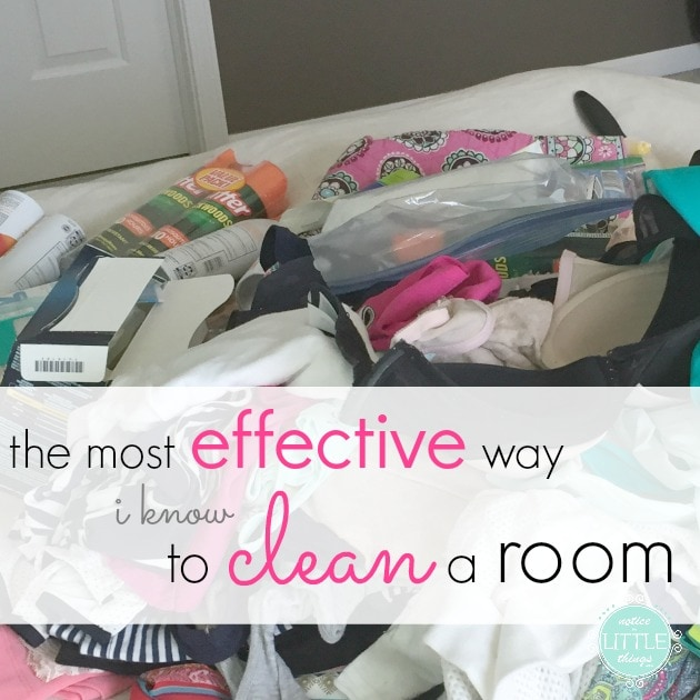 the most effective way i know to clean a room