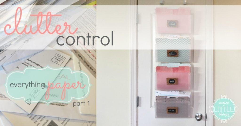 clutter control paper 1 fb text