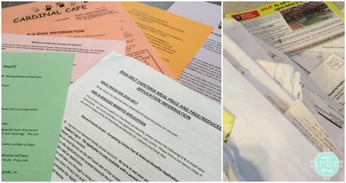 decluttering papers