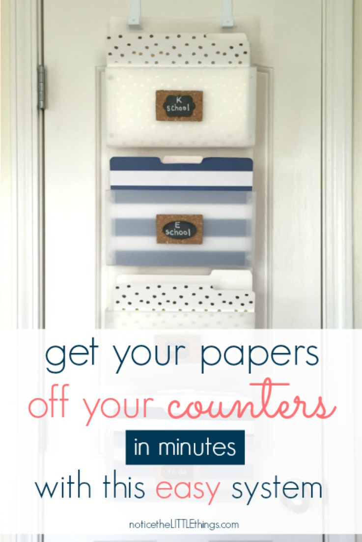 organize all your paper clutter, including school papers, bills, mail, and more with this easy and cute filing system. #organizedschoolpapers #organizedmom #organizedfamily #filingsystem #waystoorganizeschoolpapers #waystoorganizebills #organizinghouseholddocuments