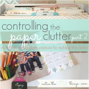 controlling the paper clutter {part 2}