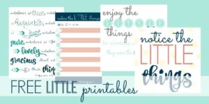 FREE printables collage