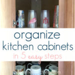 organize your kitchen cabinets in 5 easy steps