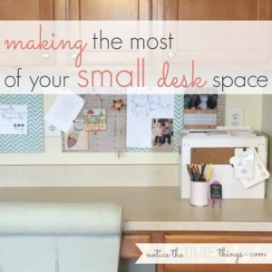 making the most of your small desk space