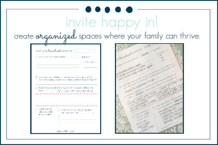 printable to help organize spaces in your home