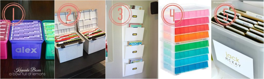 an easy and inexpensive way to organize school papers pre K - 12th grade.
