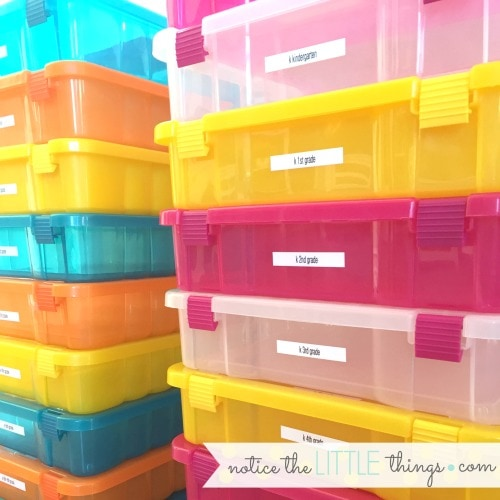 a super easy way to organize school papers pre K - 12th grade.