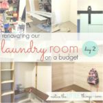 budget-friendly laundry room renovation, day 2