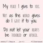 ntlt wednesday word :: not as the world gives