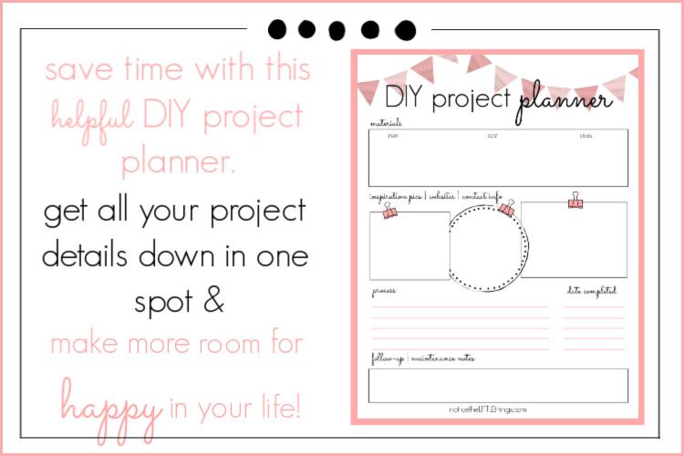 diy project planner printable