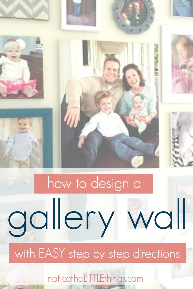 follow these EASY steps to create an eye-catching picture gallery wall, the perfect way to display your family pictures and wall decor when you don't have a lot of space. #gallerywall #howtodesignagallerywall #howtomakeagallerywall #howtohangpicturesstraight #familypicturedisplays #diygallerywall #diypictureframes #picturewall #creatingapicturewall #picturewalldisplay