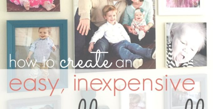 how to create an easy, inexpensive gallery wall