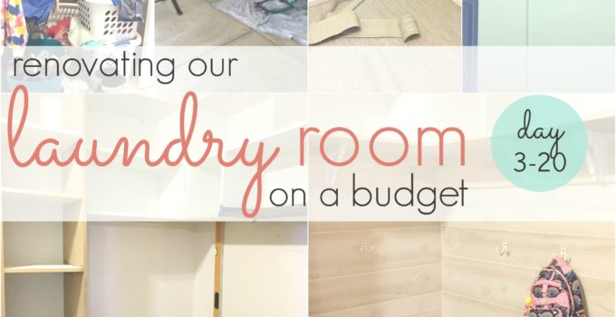 budget-friendly laundry room renovation, day 3-20