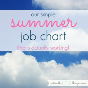 a simple summer job chart that is actually working