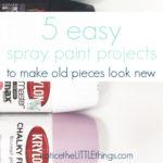 5 easy spray paint project ideas