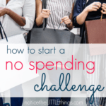 how to start a no spending challenge