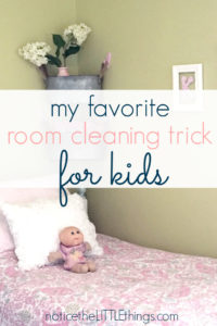 clean kids room