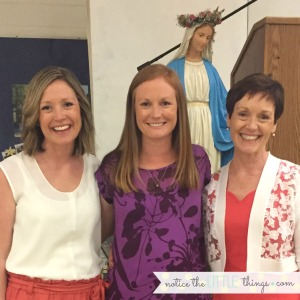 celebrating mary, mother of God, at a special mary's way dinner