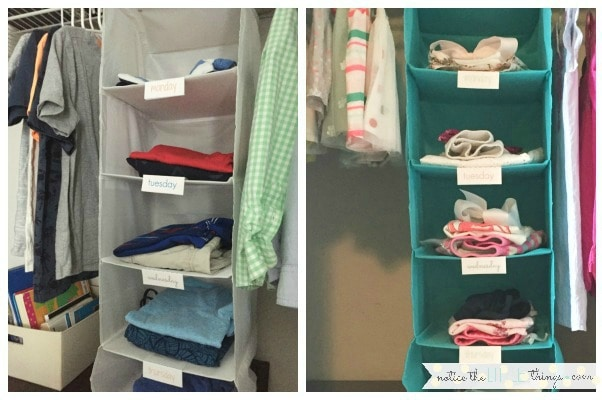 YOU can use this EASY method to save time every morning picking out school clothes. we use it as a fast way to organize school clothes, saving LOTS OF TIME in our morning routine and avoiding arguments about clothes with kids. #backtoschool #backtoschoolclothes #closetorganization #morningroutines #backtoschoolorganizationformoms #backtoschoolorganizationforkids #backtoschoolorganizationforteens #backtoschoolonabudget