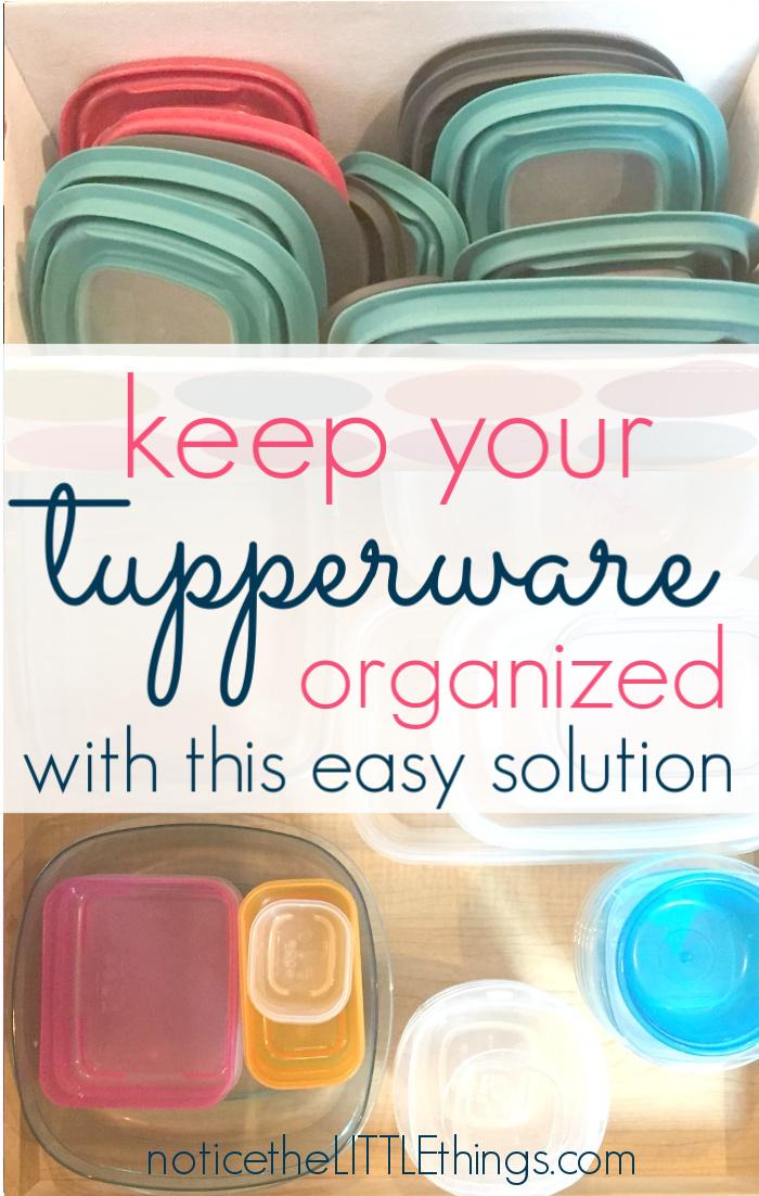 organized tupperware
