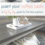 how to paint your coffee table