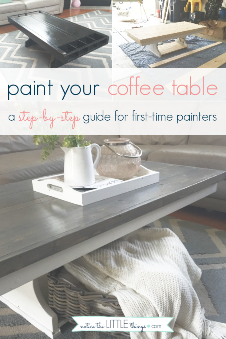 update your table with this easy step-by-step guide. plus, free printable paint and supply list to help you complete your project. #noticethelittlethings #noticethelittlethingsdiy #paintedfurniture #howtopaintfurniture #refinishingfurniture #farmhousetable #farmhousestyle #diytable #newtabletop #howtomakeafarmhousetable #diyfarmhousetable #coffeetable #freeprintable #paintguide