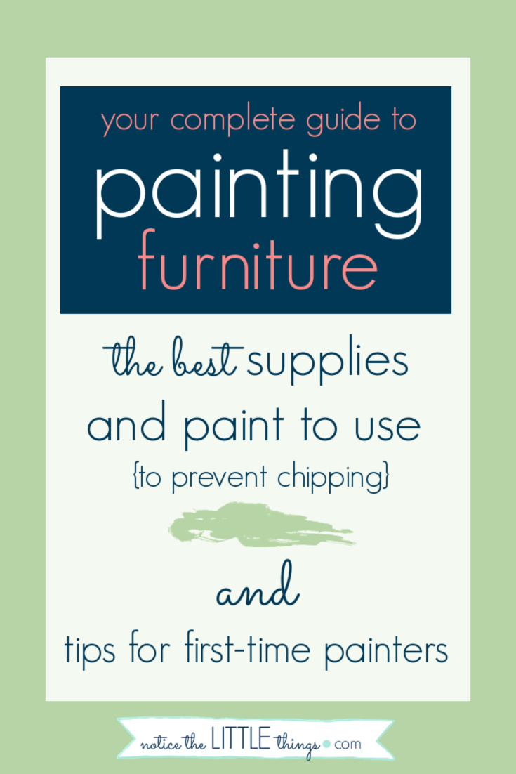 guide to painting furniture