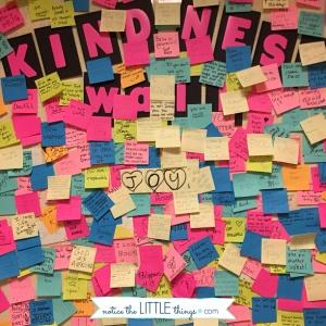 kindness post it wall