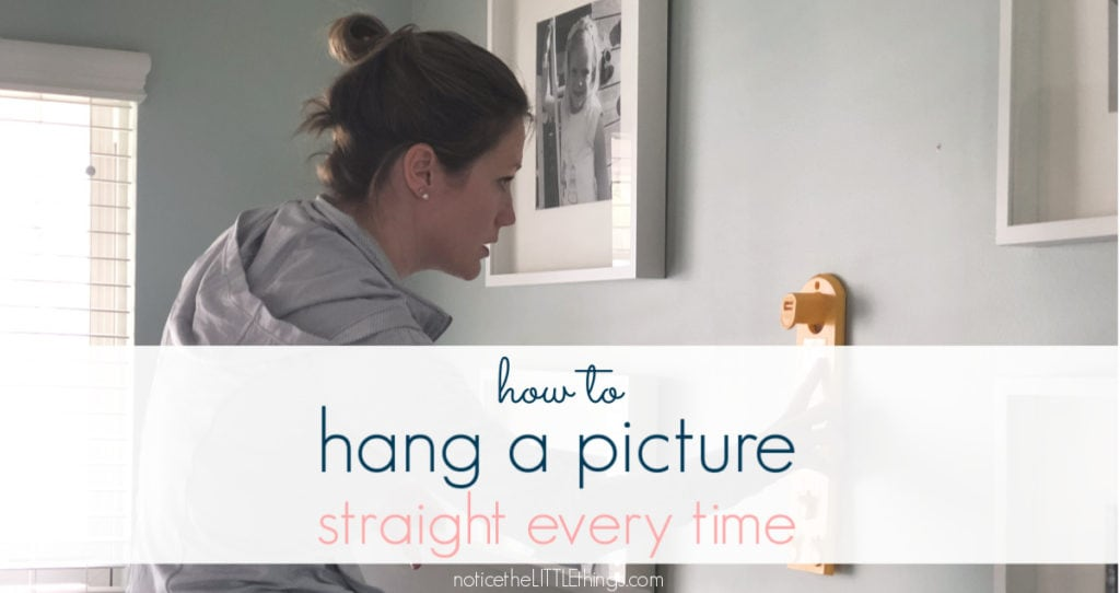 how to hang a picture straight