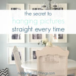 how to hang a picture straight every time