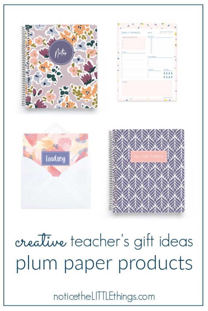 plum paper teacher's gifts ideas