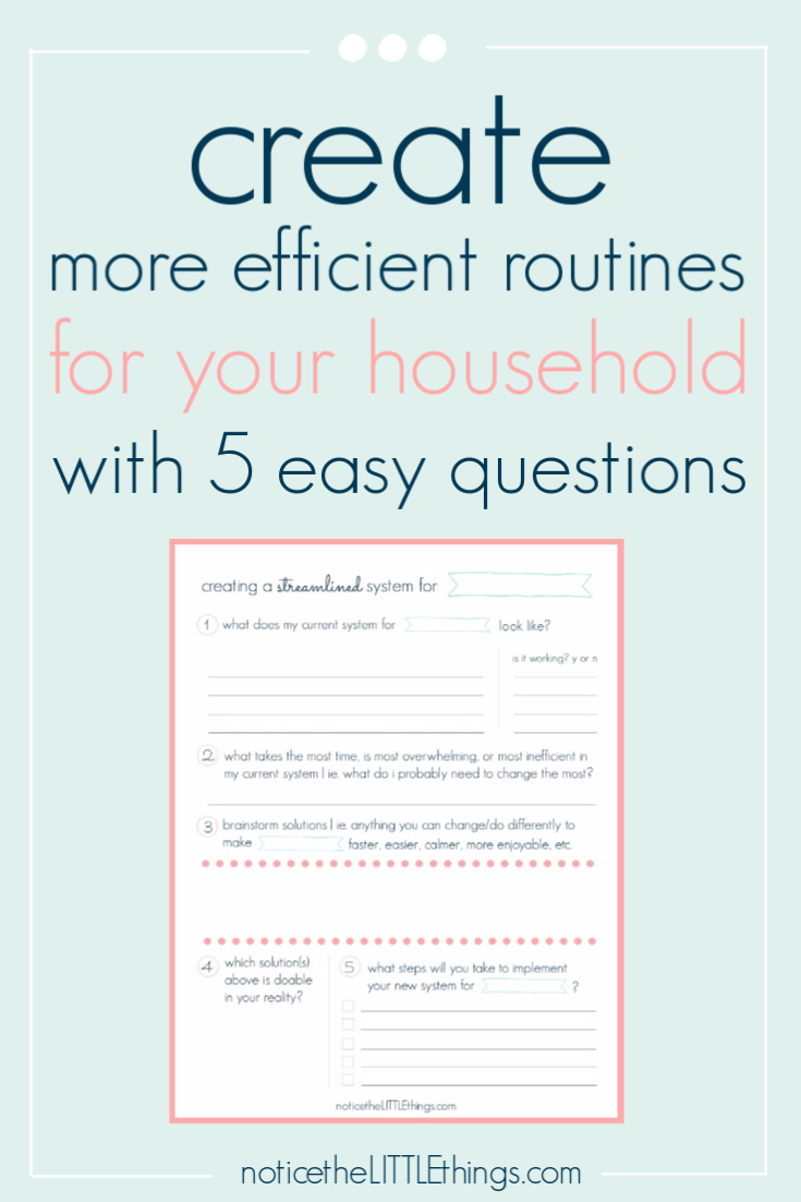 creating family routines