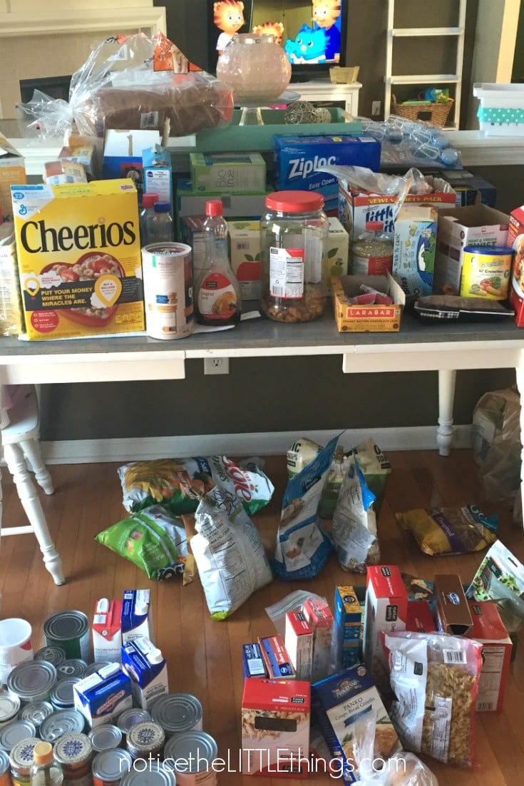 organized pantry before picture