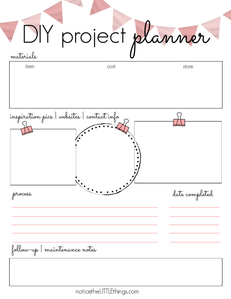 DIY project planner