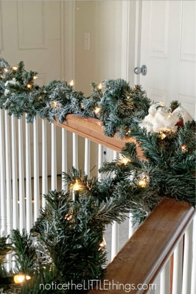 christmas banister decor