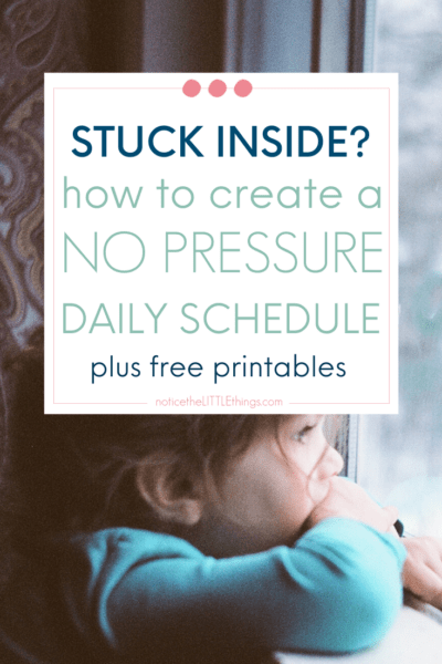 a NO HASSLE daily routine schedule for kids AND MOMS!
